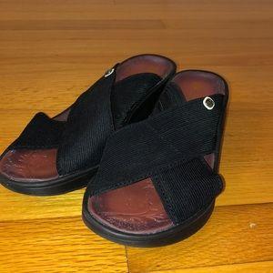Bzees black slip-on sandals